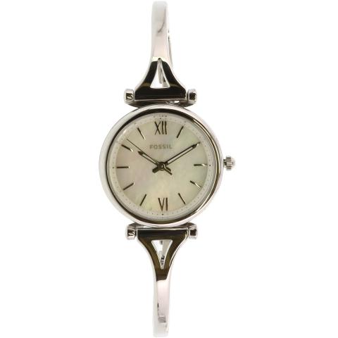 Fossil Women's Carlie ES4501 Silver Stainless-Steel Analog Quartz Dress Watch