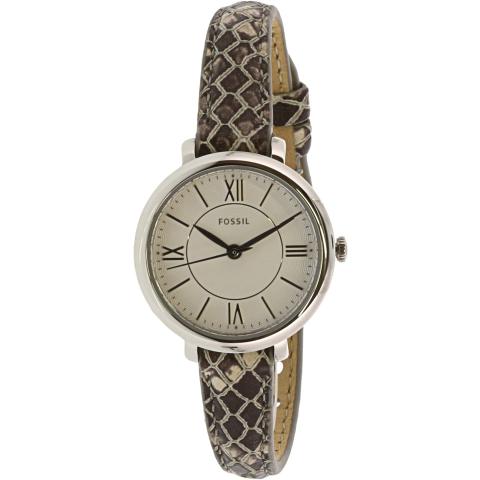 Fossil Women's Jacqueline Mini ES4635 White Leather Quartz Fashion Watch