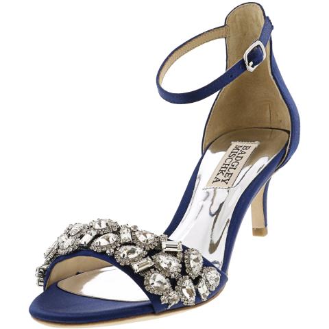 Badgley Mischka Women's Lara Ankle-High Satin Pump