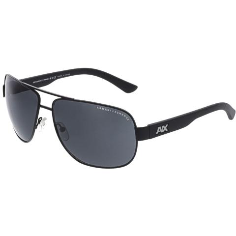 Armani Exchange Men's Mirrored AX2012S-606387-62 Black Rectangle Sunglasses