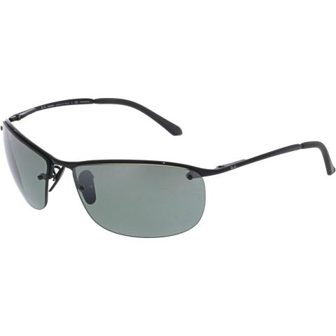 Ray-Ban Men's RB3542-002/5L-63 Black Rectangle Sunglasses