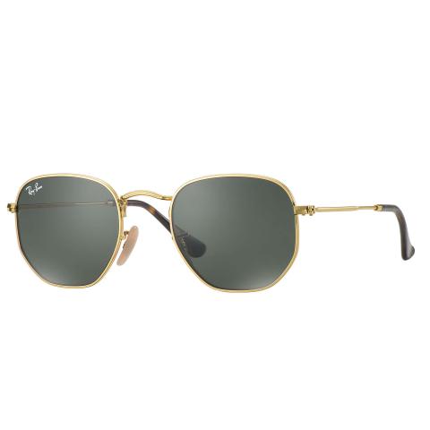 Ray-Ban Men's Hexagonal RB3548N-00151-21 Gold Geometric Sunglasses