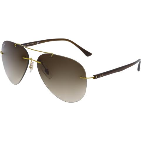 Ray-Ban RB8058-157/13-59 Gold Aviator Sunglasses