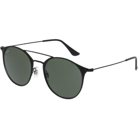 Ray-Ban RB3546-186-52 Black Round Sunglasses