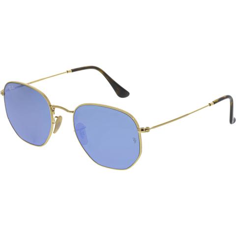 Ray-Ban RB3548N-001/9O-54 Gold Square Sunglasses