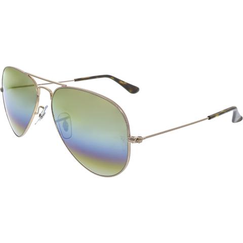 Ray-Ban Men's Aviator RB3025-9020C4-58 Gold Sunglasses