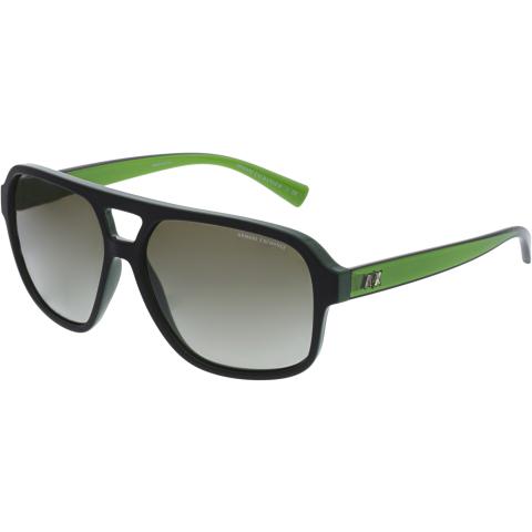Armani Exchange Men's Gradient AX4061S-82188E-59 Black Square Sunglasses