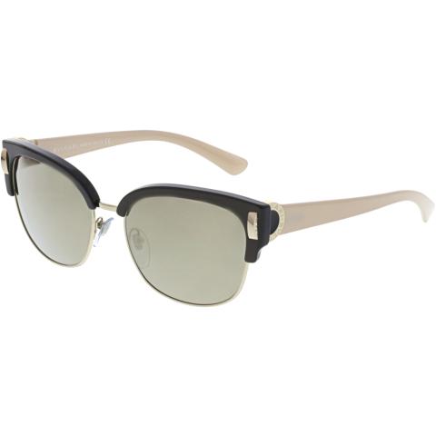 Bvlgari Women's BV8189-897/5A-55 Brown Square Sunglasses