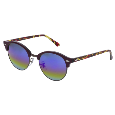 Ray-Ban Clubround RB4246-1222C2-51 Red Clubmaster Sunglasses