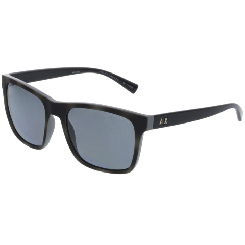 Armani Exchange AX4063S-822081-57 Grey Rectangle Sunglasses