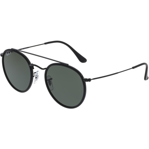 Ray-Ban Double Bridge RB3647N-002/58-51 Black Round Sunglasses