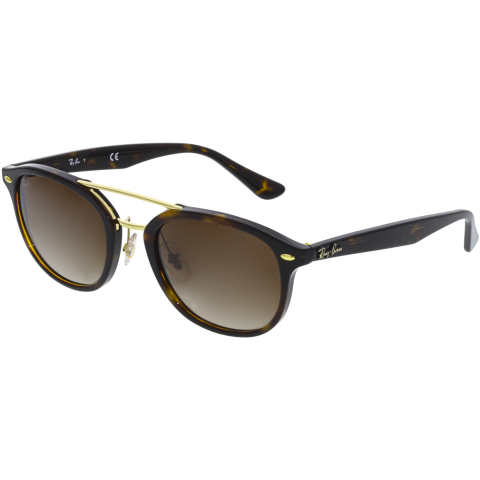 Ray-Ban Women's Gradient RB2183-122513-53 Brown Square Sunglasses