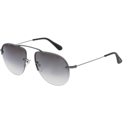 Prada Teddy PR58OS-5AV6T2-55 Silver Semi-Rimless Sunglasses