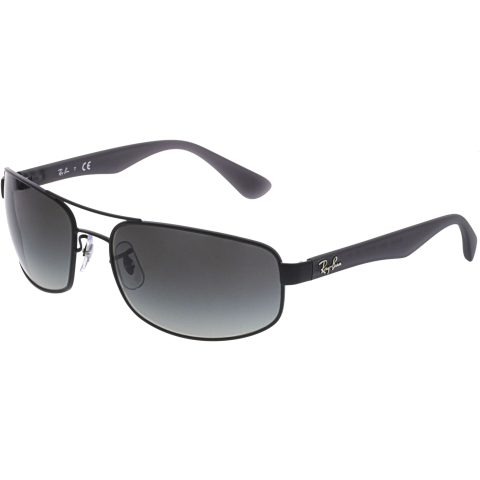 Ray-Ban Men's Active Lifestyle RB3445-006/11-61 Black Rectangle Sunglasses