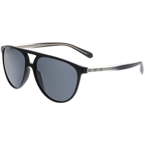 Burberry Men's Mirrored BE4254-300187-58 Black Aviator Sunglasses