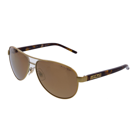 Ralph Lauren Women's Mirrored RA4004-1012T-59 Gold Sunglass