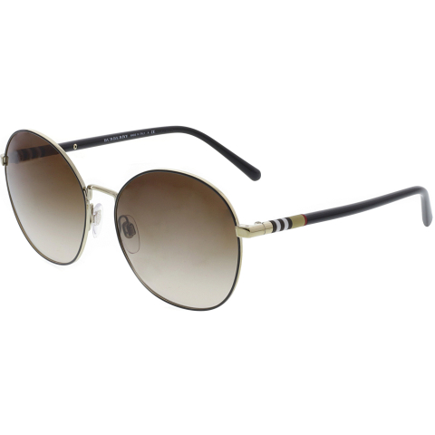 Burberry Women's Gradient BE3094-114513-56 Brown Round Sunglasses