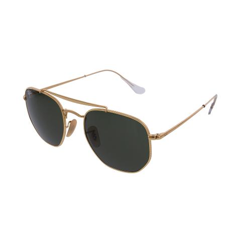 Ray-Ban Men's Marshal RB3648-001-54 Gold Geometric Sunglasses