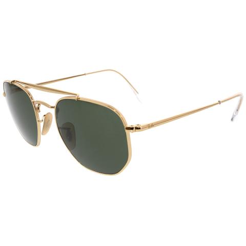 Ray-Ban Men's Marshal RB3648-001-51 Gold Geometric Sunglasses
