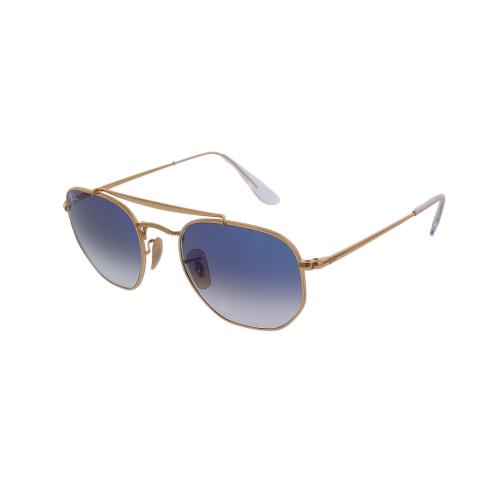 Ray-Ban Men's Gradient Marshal RB3648-001/3F-51 Gold Geometric Sunglasses