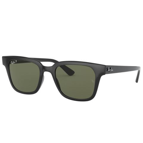 Ray-Ban Polarized Rb4323F RB4323F-601-9A51-20 Black Square Sunglasses