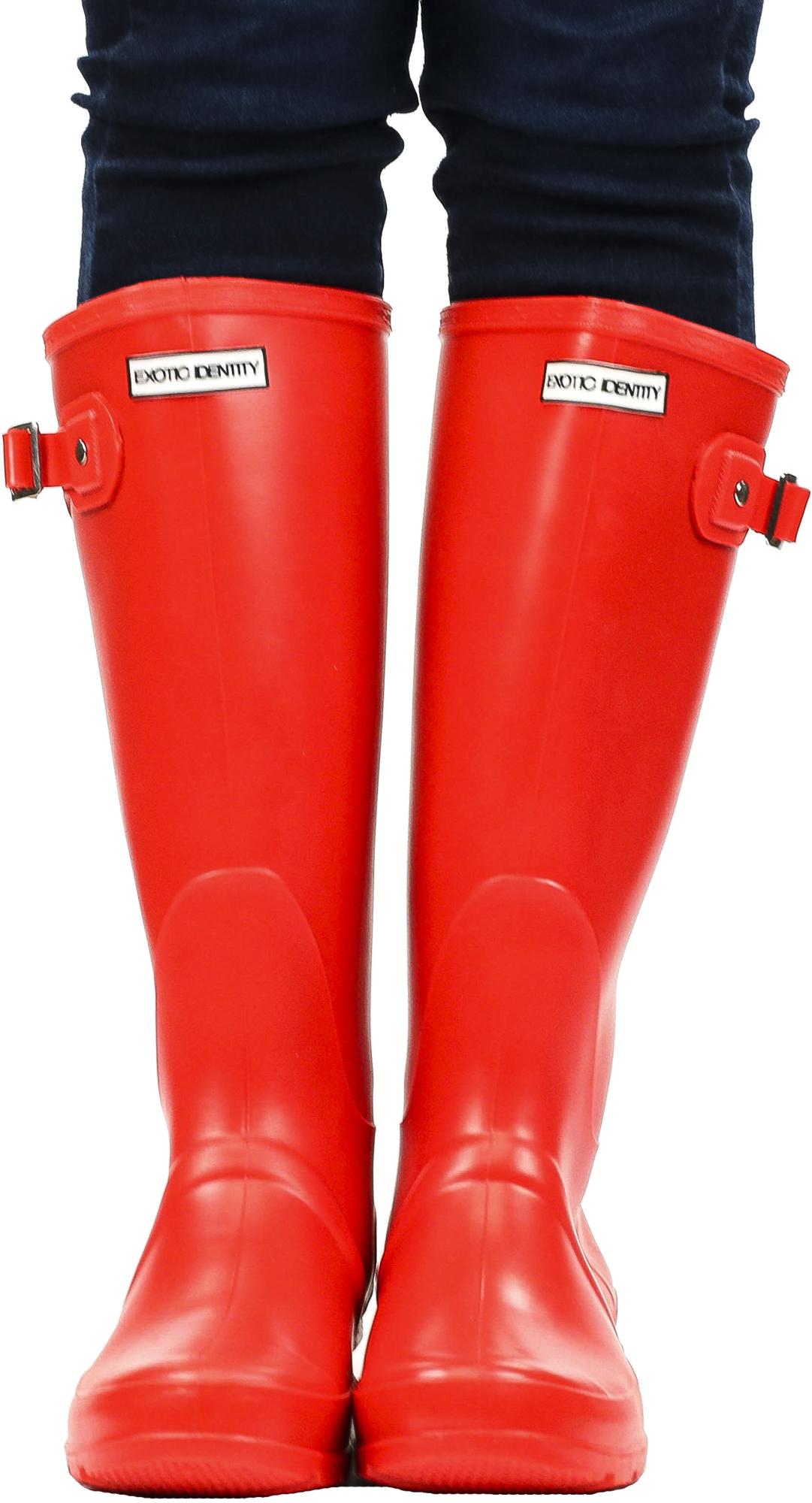 Exotic-Identity-Original-Tall-Rain-Boots-Waterproof-Premium-PVC-Nonslip-So thumbnail 36