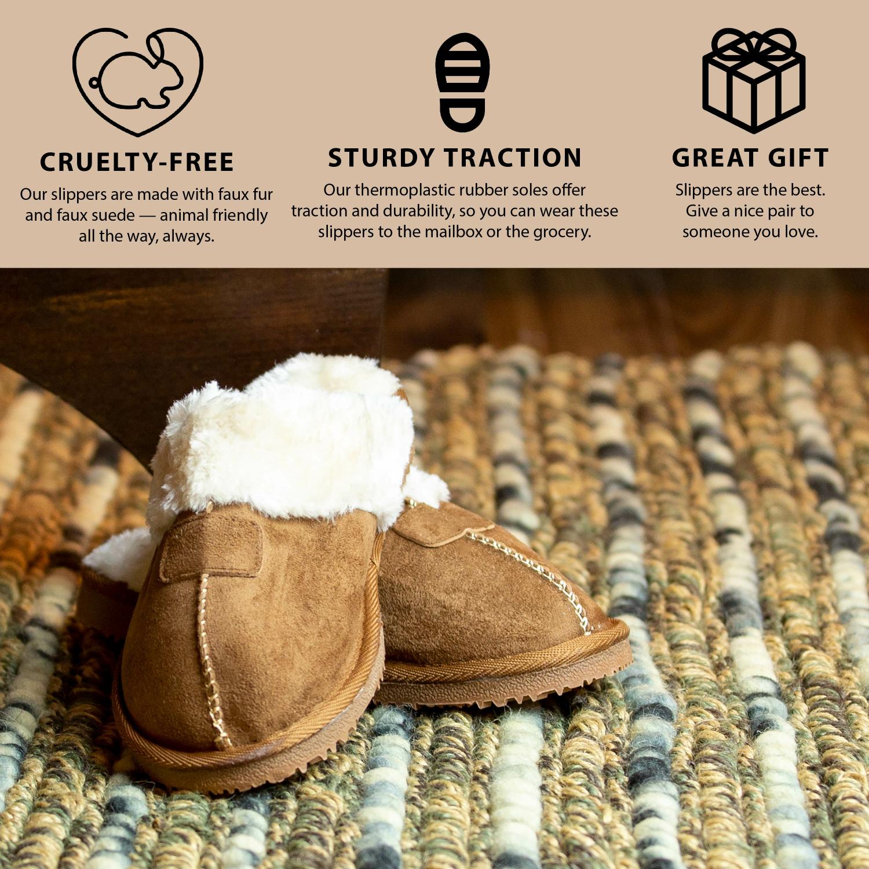 Kreated-Equal-Ultra-Cozy-Faux-Fur-Colette-Slipper-Cozy-Nonslip-Tread thumbnail 12