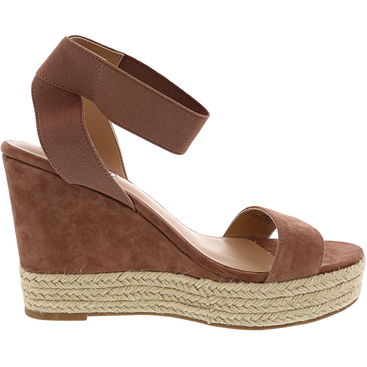 Steve-Madden-Women-039-s-Certified-Suede-Ankle-High-Wedged-Sandal thumbnail 11