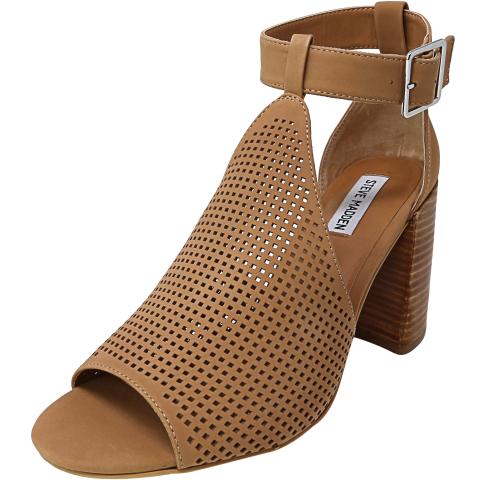 Steve Madden Women's Sawyer Nubuck Ankle-High Leather Heel