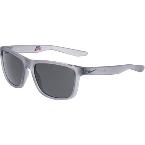 Nike Men's Flip EV0990-010 Grey Rectangle Sunglasses