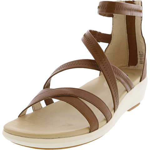 Hush Puppies Women's Lyricale Backzip Ankle-High Leather Wedged Sandal