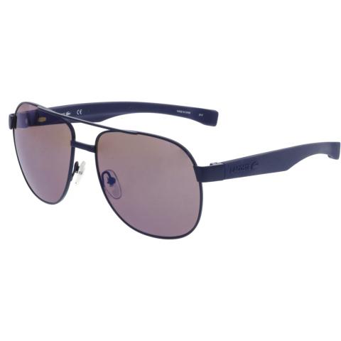 Lacoste Men's L186S-424-57 Blue Aviator Sunglasses