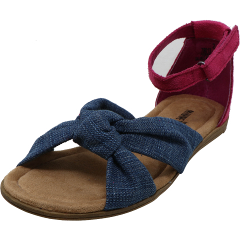 Minnetonka Girl's Etta Denim Ankle-High Fabric Sport Sandals & Slide