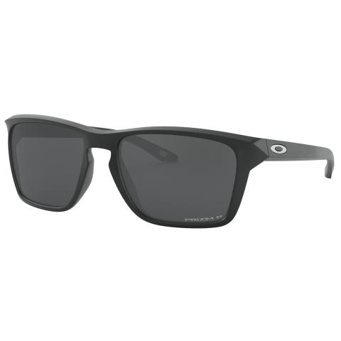 Oakley Men's Polarized Sylas 0OO9448-94480657 Black Rectangle Sunglasses