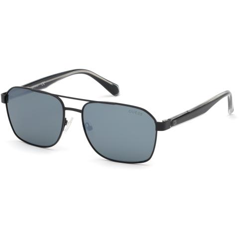 Guess Men's Mirrored Gu6936 GU6936-02C-58 Black Rectangle Sunglasses