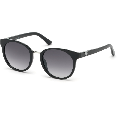 Guess Women's Gradient Gu7601 GU7601-01B-52 Black Round Sunglasses