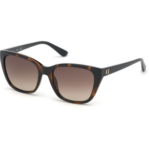 Guess Women's Gradient Gu7593 GU7593-52F-54 Brown Rectangle Sunglasses