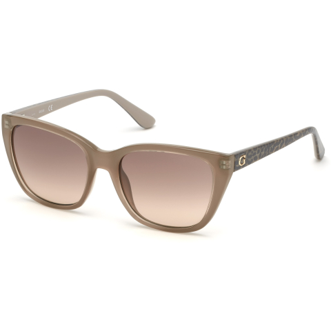 Guess Women's Gradient Gu7593 GU7593-57F-54 Tan Rectangle Sunglasses