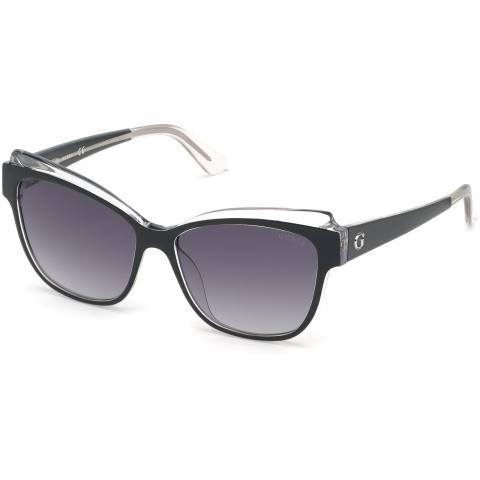 Guess Women's Gradient Gu7592 GU7592-03B-57 Black Rectangle Sunglasses