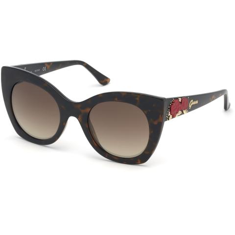 Guess Women's Mirrored Gu7610 GU7610-52G-51 Brown Cat Eye Sunglasses