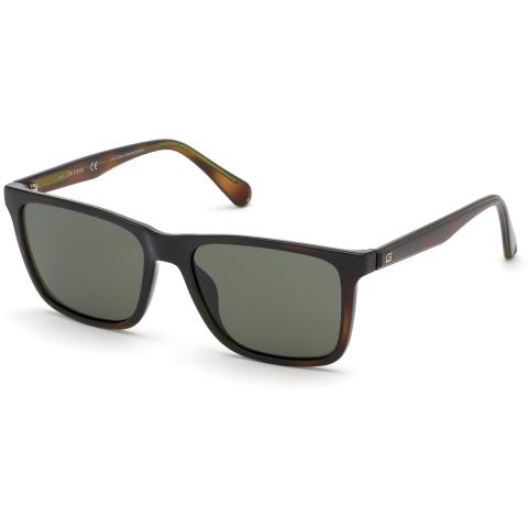 Guess Men's Gradient Gu6935 GU6935-52N-57 Brown Rectangle Sunglasses