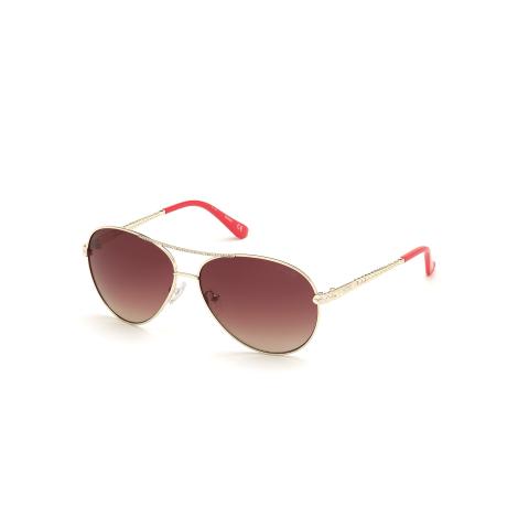 Guess Women's Gradient Gu7470 GU7470-S-32T-60 Gold Round Sunglasses