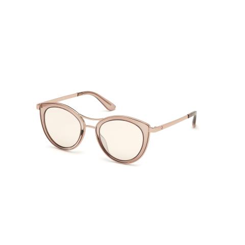 Guess Women's Mirrored Gu7490 GU7490-45G-51 Brown Cat Eye Sunglasses