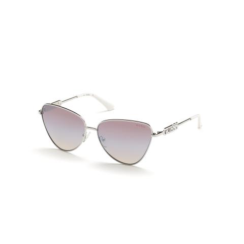 Guess Women's Mirrored Gu7646 GU7646-10G-61 Silver Rimless Sunglasses