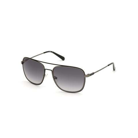 Guess Men's Mirrored Gu6960 GU6960-07C-60 Silver Rectangle Sunglasses