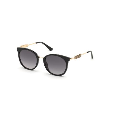 Guess Women's Gradient Gu7645 GU7645-01B-52 Black Cat Eye Sunglasses
