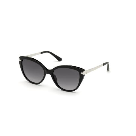 Guess Women's Mirrored Gu7658 GU7658-01C-56 Black Cat Eye Sunglasses