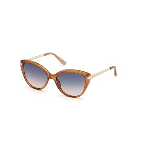 Guess Women's Gradient Gu7658 GU7658-42B-56 Orange Cat Eye Sunglasses