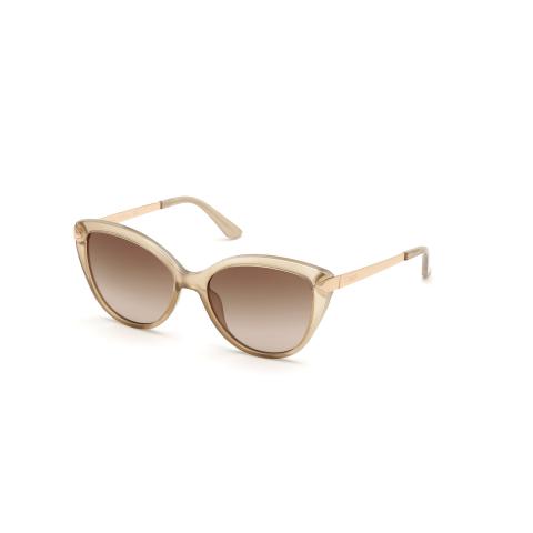 Guess Women's Gradient Gu7658 GU7658-57F-56 Tan Cat Eye Sunglasses