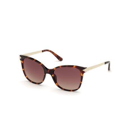 Guess Women's Gradient Gu7657 GU7657-52F-56 Brown Rectangle Sunglasses